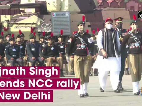 Rajnath Singh attends NCC rally in New Delhi