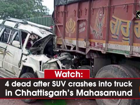 Watch: 4 dead after SUV crashes into truck in Chhattisgarh's Mahasamund