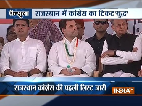 Rajasthan Assembly Election 2018: Congress releases first list of 152 candidates