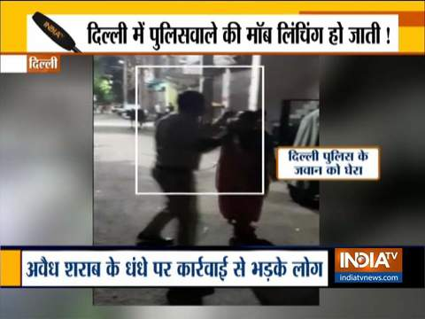 Mob tried to lynch constable for taking action against illegal liquor factory operating in Delhi