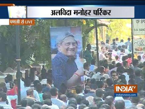 The last rite ceremony of Goa CM Manohar Parrikar performed at SAG Ground, Panaji