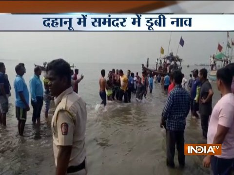 Boat with 40 school children on board capsizes 2 nautical miles from the sea shore in Dahanu