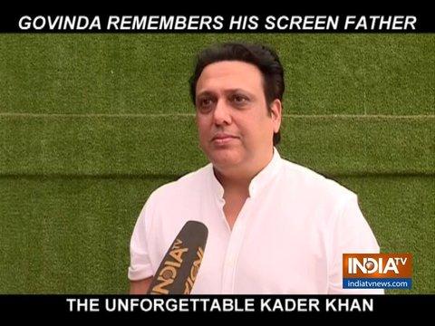 Govinda remembers his perfect camaraderie with legendary actor Kader Khan