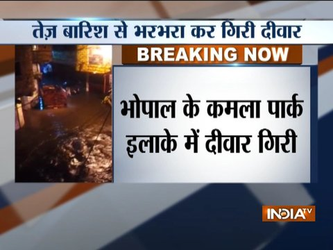 Madhya Pradesh: Woman, two kids killed as wall collapsed due to heavy showers in Bhopal
