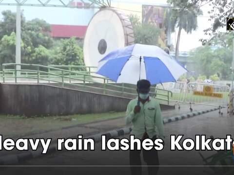 Watch: Heavy rain lashes Kolkata