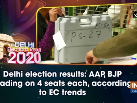 Delhi election results: AAP, BJP leading on 4 seats each, according to EC trends