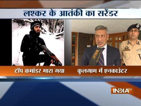 जम्मू-कश्मीर: कुलगाम में सेना ने मार गिराए लश्कर-ए-तैयबा के 2 आतंकवादी, 1 ने किया सरेंडर