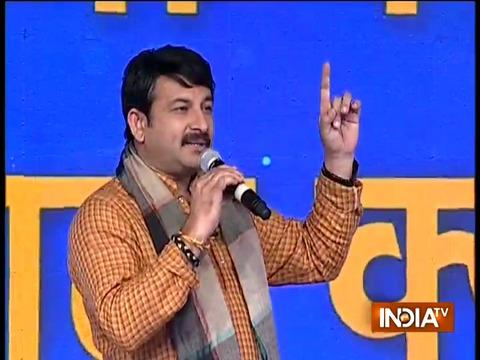 BJP MP Manoj Tiwari sings a patriotic song to boost moral of Indian army