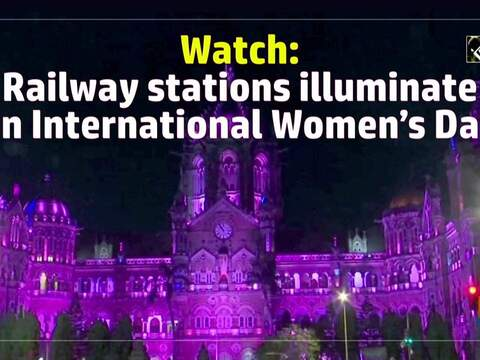 Watch: Railway stations illuminate on International Women's Day