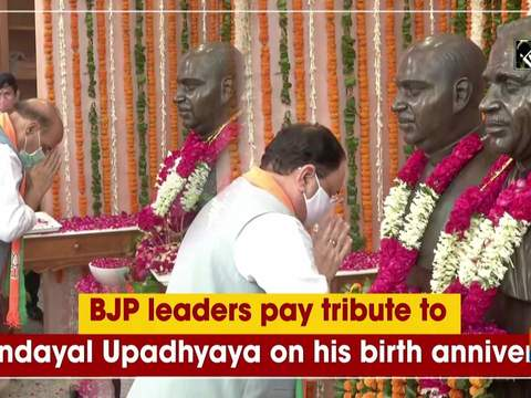 BJP leaders pay tribute to Deendayal Upadhyaya on his birth anniversary