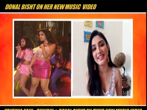 Donal Bisht on her msic video Teri Patli Kamar