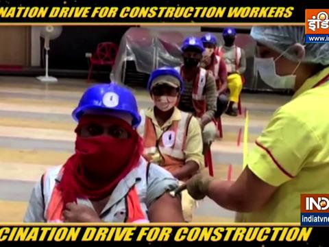 मुंबई में निर्माण श्रमिकों के लिए टीकाकरण अभियान शुरू