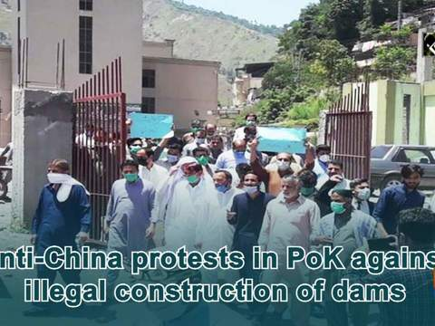 Anti-China protests in PoK against illegal construction of dams
