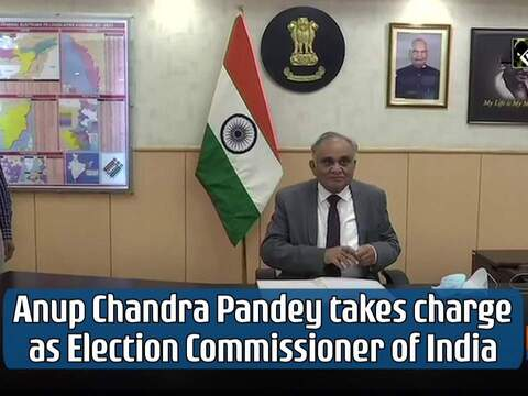 Anup Chandra Pandey takes charge as Election Commissioner of India