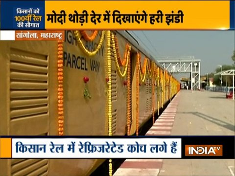 Amid continued protest by farmers, PM Modi to flag off 100th Kisan rail shortly