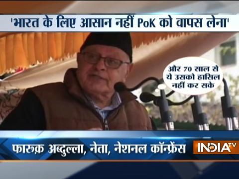 Pakistan is not wearing bangles, won't allow India to take PoK, says Farooq Abdullah