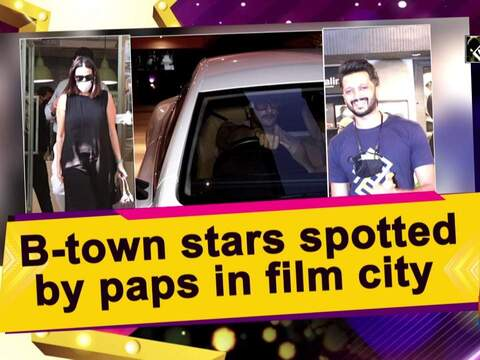B-town stars spotted by paps in film city