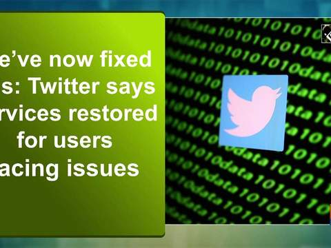 We've now fixed this: Twitter says services restored for users facing issues