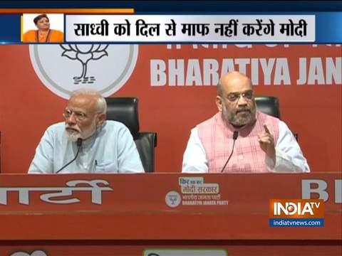 प्रधानमंत्री मोदी ने कहा, बापू का अपमान करने के लिए मैं साध्वी प्रज्ञा को कभी माफ नहीं करूंगा