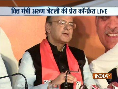 Arun Jaitley addresses press conference over Gujarat Assembly polls