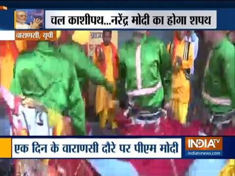 UP: Artists perform in Varanasi ahead of PM Modi's visit