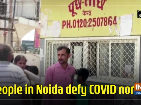 People in Noida defy COVID norms