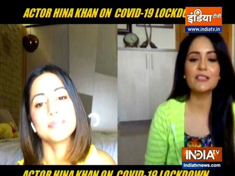 Hina Khan talks about her lockdown days