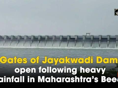 Gates of Jayakwadi Dam open following heavy rainfall in Maharashtra's Beed
