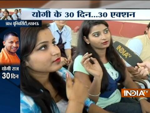 Students of SRM University on Anti-Romeo squad started by CM Adityanath