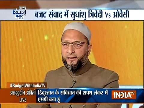 AIMIM chief Owaisi loses his cool during debate