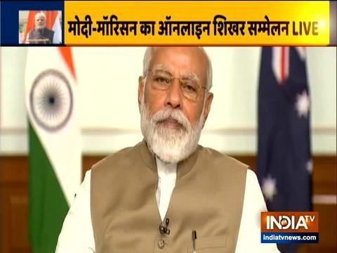 भारत-ऑस्ट्रेलिया वर्चुअल समिट में पीएम मोदी ने ऑस्ट्रेलिया के पीएम स्कॉट मॉरिसन को दिया भारत आने का आमंत्रण