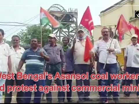 West Bengal's Asansol coal workers hold protest against commercial mining