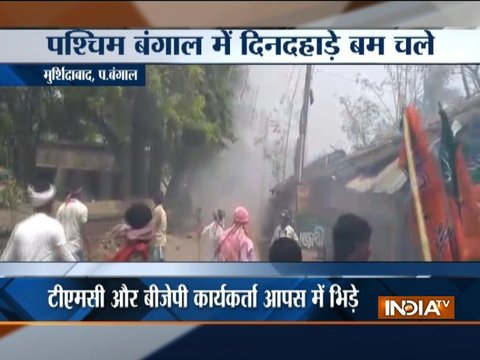 TMC and BJP workers clashes in West Bengal