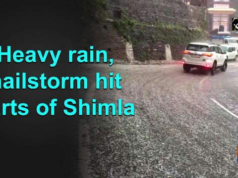 Heavy rain, hailstorm hit parts of Shimla