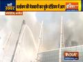 VIDEO:  Fire erupts at Brazil stadium