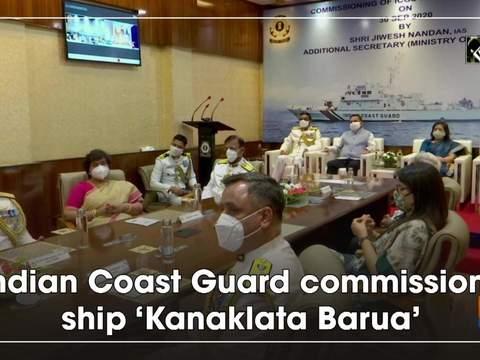 Indian Coast Guard commissions ship 'Kanaklata Barua'