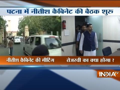 Bihar CM Nitish Kumar has called Deputy CM Tejashwi Yadav in his cabinet meeting