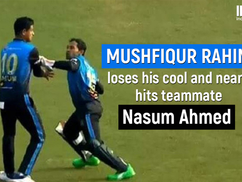 Mushfiqur Rahim loses his cool and almost hits teammate in Bangabandhu T20 Cup