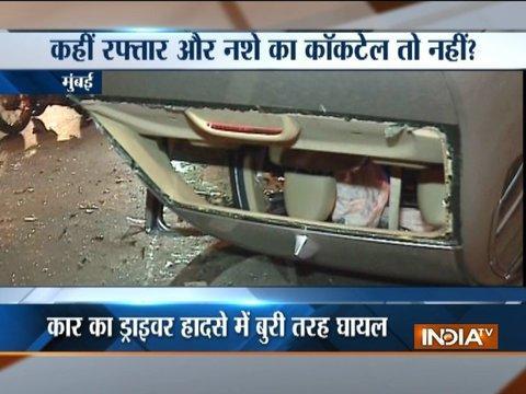 Major car accident in Mumbai, driver injured