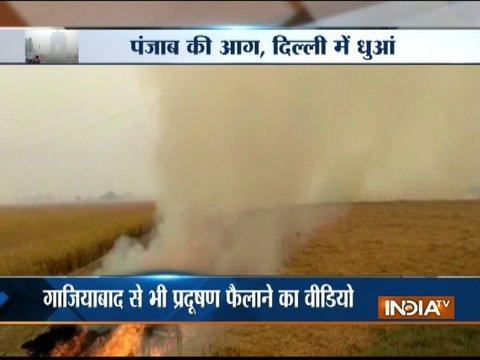 Delhi Battles Smog: Stubble burning continues in Punjab and part of Ghaziabad