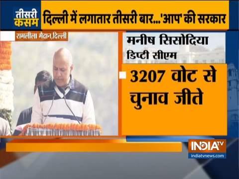 मनीष सिसोदिया ने दिल्ली सरकार में मंत्री पद की शपथ ली