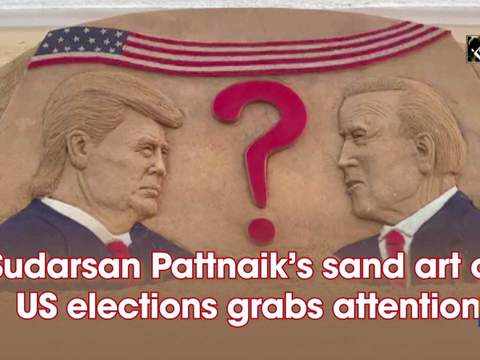 Sudarsan Pattnaik's sand art on US elections grabs attention