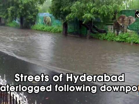 Streets of Hyderabad waterlogged following downpour