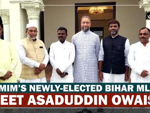 AIMIM's newly-elected Bihar MLAs meet Asaduddin Owaisi