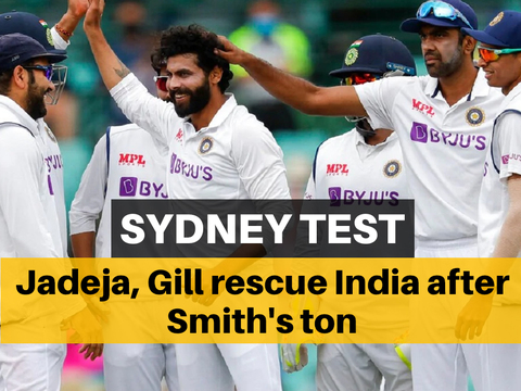 AUS vs IND 3rd Test: Jadeja, Gill shine as India dominate day 2 despite Smith century