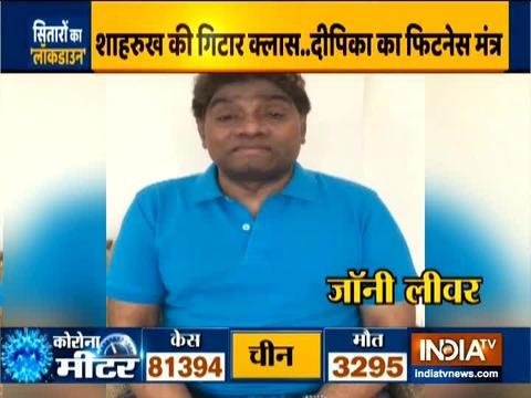 इंडिया टीवी पर जॉनी लीवर ने अनोखे अंदाज में दी घर में रहने की सलाह