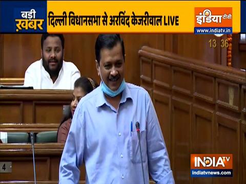 CM Arvind Kejriwal address Delhi Assembly