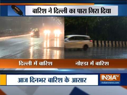 दिल्ली-एनसीआर के कुछ हिस्सों में मध्यम से भारी बारिश हुई