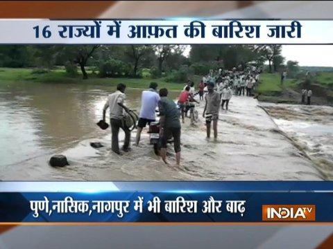 मानसून 2018: गुजरात, महाराष्ट्र, उत्तराखंड में भारी बारिश के कारण बाढ़ जैसे हालात कायम