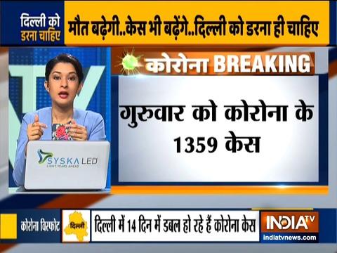 दिल्ली में पिछले 24 घंटों में 1,359 नए कोरोना वायरस के नए  मामले आये सामने